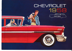 1958 Chevrolet Station Wagon Brochure Nomad Brookwood Yeoman