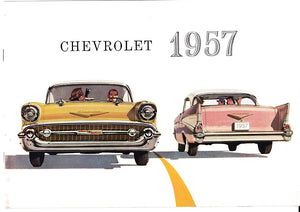 1957 Chevrolet Full Line Brochure Bel Air One-Fifty Two-Ten Corvette