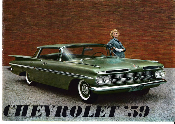 1959  Chevrolet Full Line Brochure Impala Bel Air Nomad Corvette