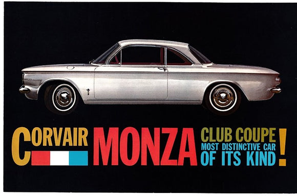 1960 Chevrolet Corvair Monza Club Coupe Brochure