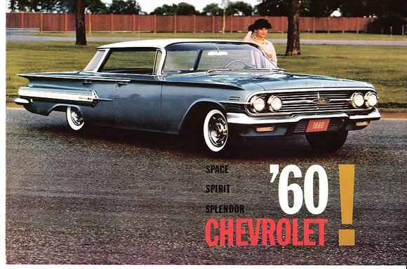 1960 Chevrolet Full Line Brochure Impala Bel Air Biscayne Corvair Corvette Wagon