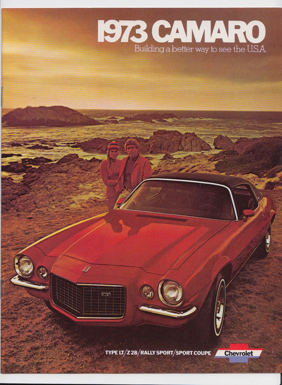 1973 Chevrolet Camaro Brochure Sport Coupe Z28 Type LT Rally Sport