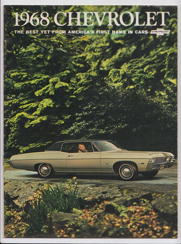 1968 Chevrolet Brochure Impala SS Caprice Bel Air Full Size