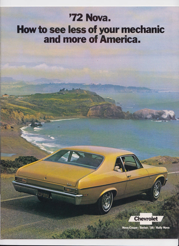 1972 Chevrolet Nova Brochure Coupe Sedan SS Rally
