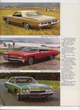 1972 Chevrolet Full Line Brochure Caprice Impala Bel Air