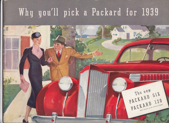 1939 Packard Full Line Brochure 120 SIX