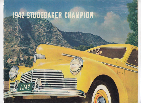 1942 Studebaker Champion Full Line Brochure Custom Deluxe Double-Dater