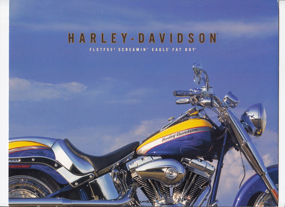 2006 Harley-Davidson Foldout  FLSTFSE SCREAMIN EAGLE FAT BOY Brochure