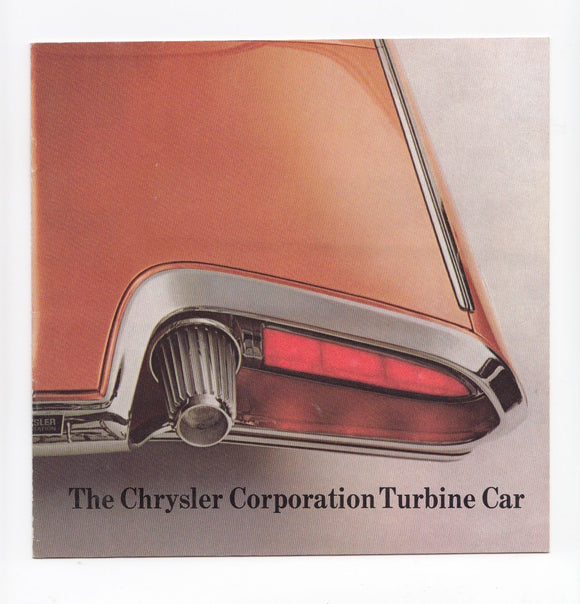 1963 Chrysler Turbine Concept Car Brochure