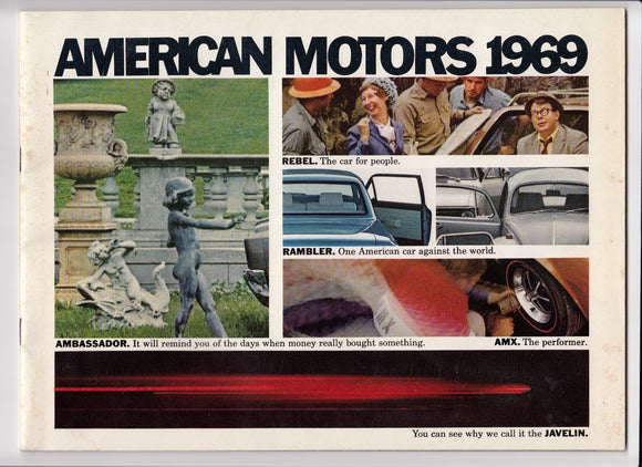1969 AMC Full Line Brochure Ambassador Javelin Rebel AMX Rambler