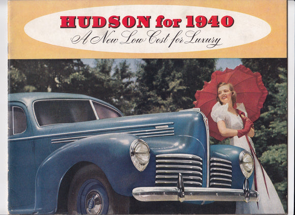 1940 Hudson  Full Line Brochure Six Eight Super-Sex Country Club