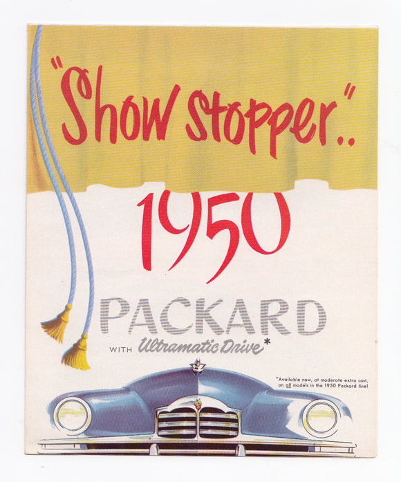 1950 Packard Full Line Foldout Brochure Eight Super Custom