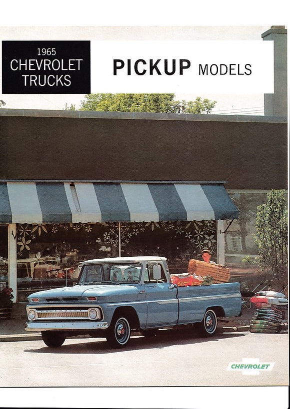 1965 Chevrolet Pickup Truck Full Line Brochure Fleetside Stepside El Camino