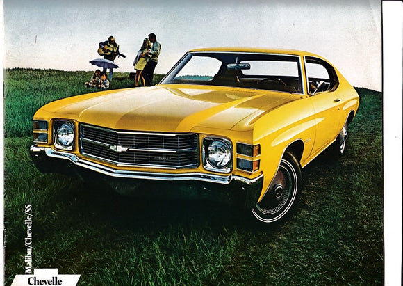 1971 Chevrolet Chevelle  Brochure SS 396 Concours Malibu 300 Deluxe Coupe