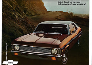 1971 Chevrolet Nova Brochure Coupe Sedan SS