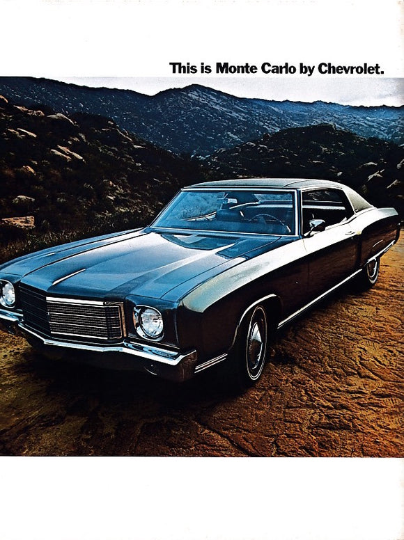 1969 Chevrolet Monte Carlo Features Brochure SS Coupe Custom