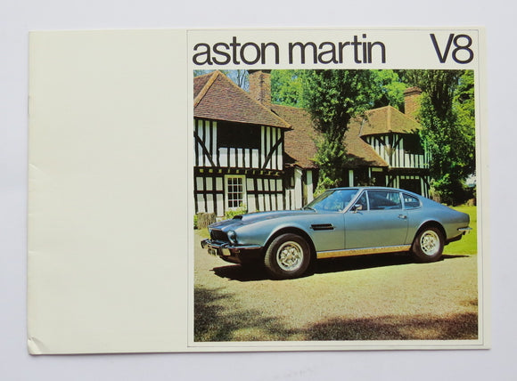 1975 Aston Martin V8 Engine Brochure