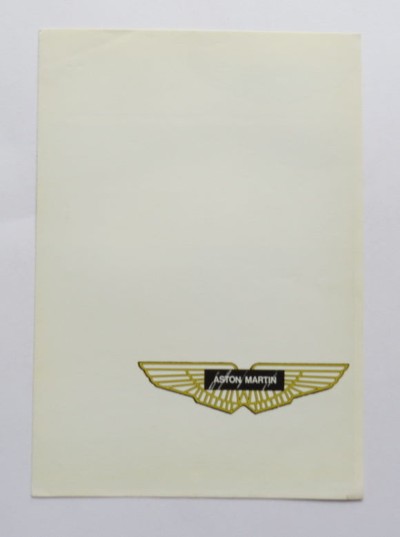 1978 Aston Martin V8 Saloon Engine Brochure