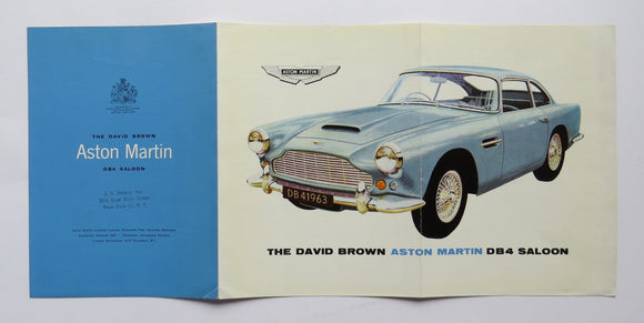 1963 Aston Martin David Brown DB4 Saloon Brochure