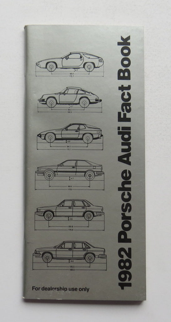 1982 Porsche Audi Fact Book Brochure 911 928 924 4000 5000