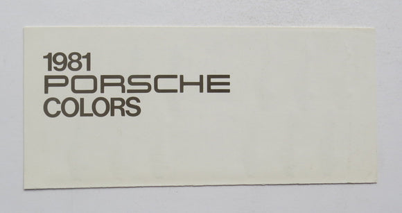 1981 Porsche Paint Colors Brochure 911SC 928 924