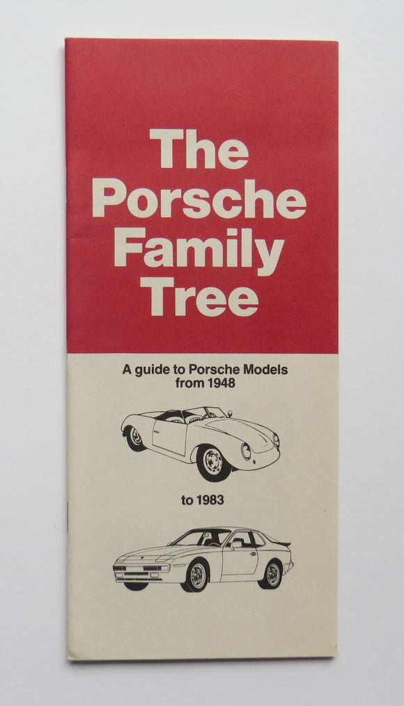 1948 - 1983 Porsche Family Tree Brochure