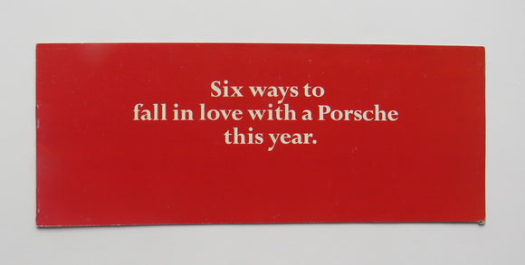 1970 Porsche 911 914 Brochure 6 Ways To Fall in Love