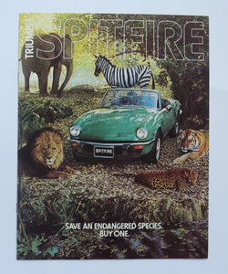 1977 Triumph Spitfire Endangered Species Brochure