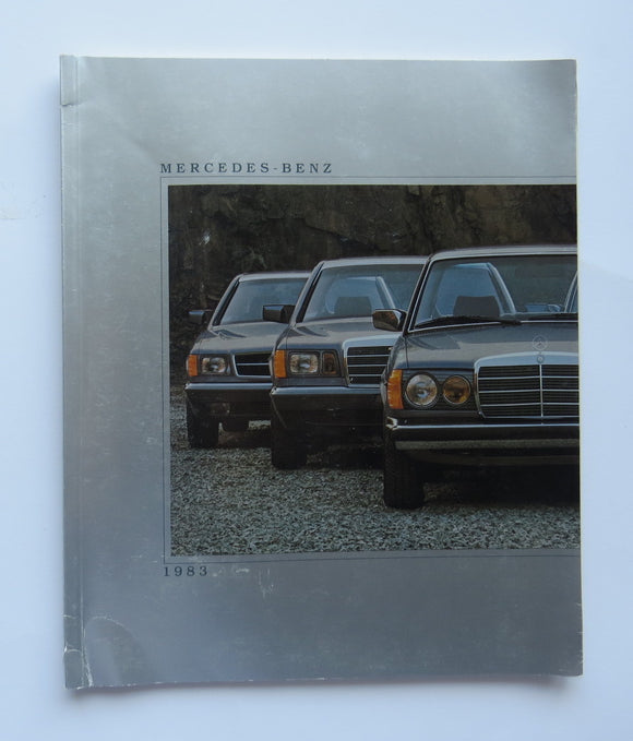 1983 Mercedes Benz Full Line Brochure 240 300 380