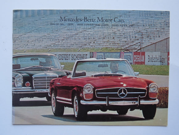 1969 Mercedes Benz Full Line Brochure 280 300 6.3 2.8 600