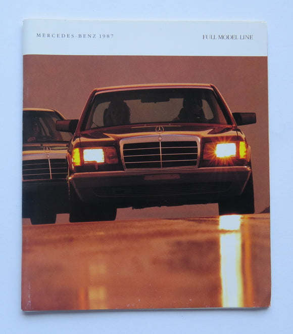 1987 Mercedes Benz Full Line Brochure 190 260 300 420 560