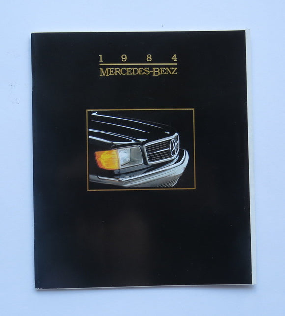 1984 Mercedes Benz Full Line Brochure 190 300 380 500