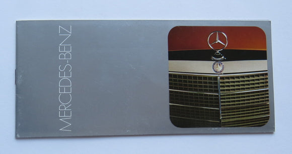 1973 Mercedes Benz Brochure 220 280 450