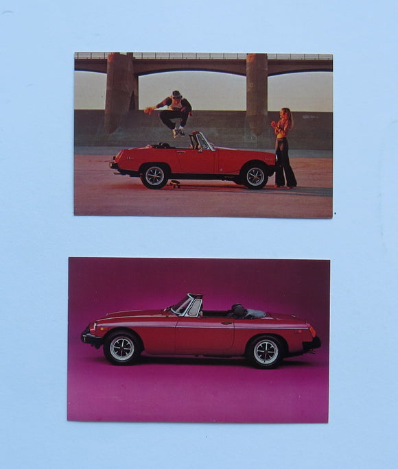 1977 Morris Garages MG Midget MGB Postcard Lot