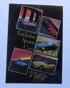1981 TVR Exclusive Sports Car Brochure 280i 2500M Tasmin