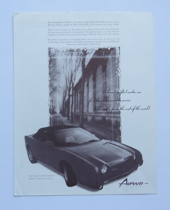 c. 2001 Studebaker Avanti Brochure T Top Coupe
