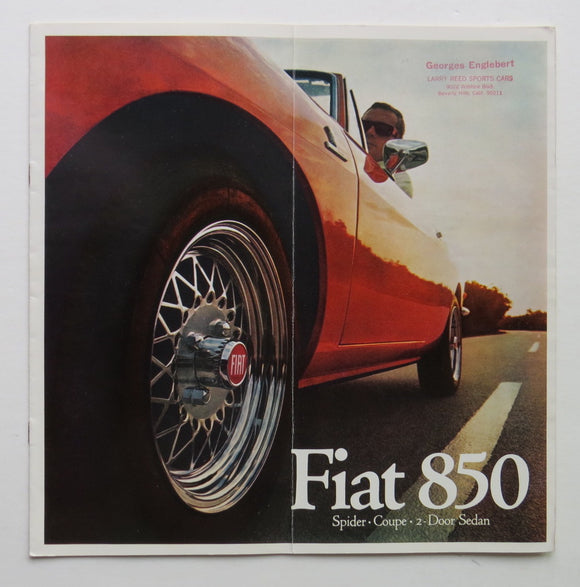 1968 Fiat 850 Brochure Spider Coupe 2 Door Sedan