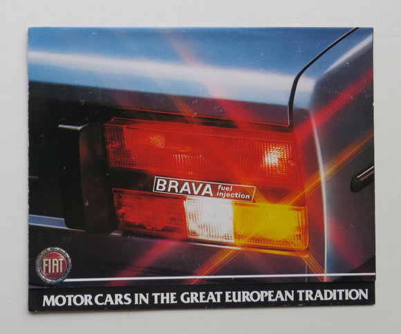 1981 Fiat Brava Fuel Injection Brochure