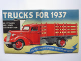 1937 Chevrolet Commercial Car 1-1/2 Ton Truck Foldout Brochure