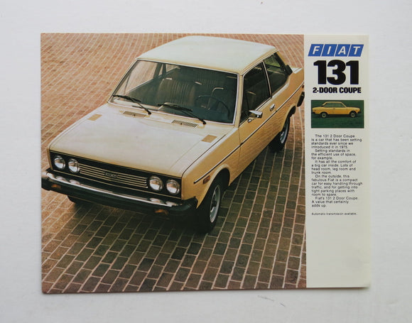 1978 Fiat 131 2 Door Coupe Brochure
