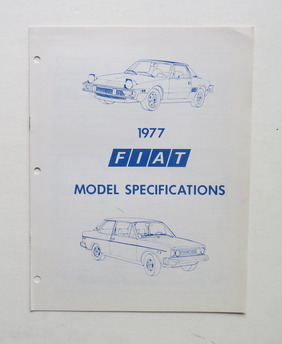 1977 Fiat 128 Line Model Specifications Brochure Sedan Station Wagon Spider