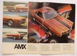 1969 AMC Full Line Brochure Rambler Rebel Ambassador Javelin AMX