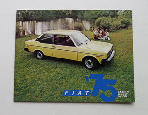 1975 Fiat Family Cars Full Line Brochure 128 131