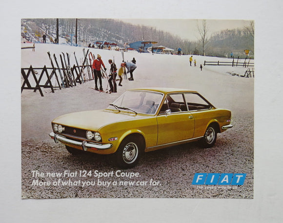 1970 Fiat 124 Sport Coupe Brochure