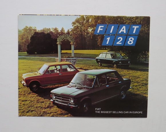 1967 Fiat 128 Full Line Brochure Sedan Station Wagon