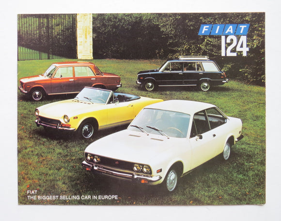 1970 Fiat 124 Full Line Brochure Sport Spider Coupe Special Station Wagon