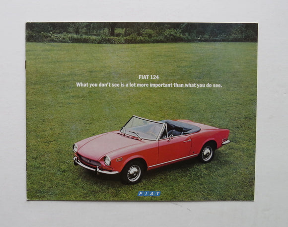 1971 Fiat 124 Brochure Sport Coupe Spider Station Wagon