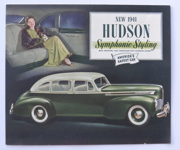 1941 Hudson Foldout Brochure Commodore Series Six DeLuxe Super-Six