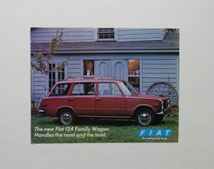 1970 Fiat 124 Family Wagon Brochure