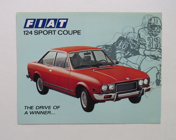 1973 Fiat 124 Sport Coupe Brochure
